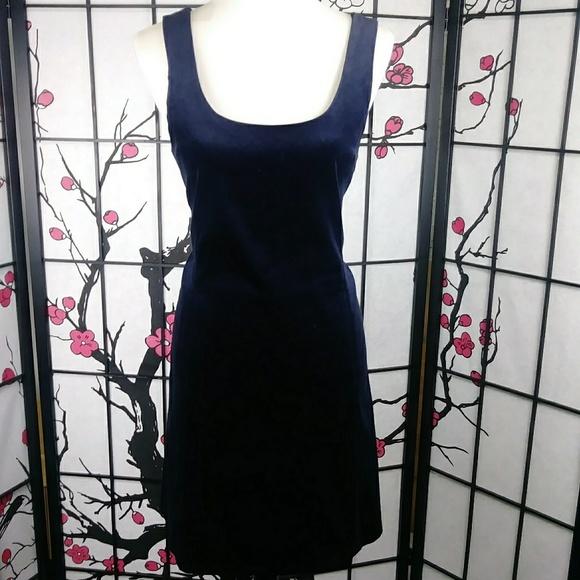 Theory Dresses & Skirts - Theory Velvet Midnight Blue Sheath Dress Pockets